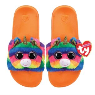 Gemma Orange Beanie Boo Small Slides