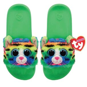 Ty Tigerly Green Beanie Boo Small Slides