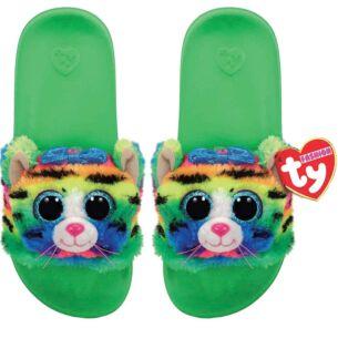 Ty Tigerly Green Beanie Boo Medium Slides