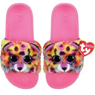 Giselle Pink Beanie Boo Medium Slides