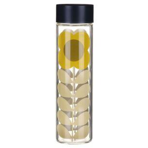 Daisy Stem Glass Water Bottle