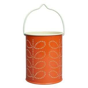 Orla Kiely Persimmon Orange Tealight Lantern