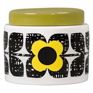 Orla Kiely Scribble Square Flower Sunshine Small Storage Jar