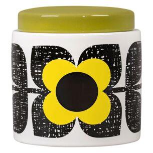 Orla Kiely Scribble Square Flower Sunshine Large Storage Jar