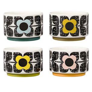 Orla Kiely Scribble Square Flower Ramekins - Set of 4