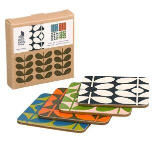 Orla Kiely 60s Stem Coasters - Set of 4
