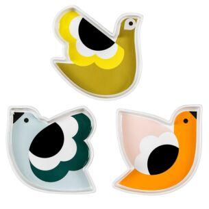 Orla Kiely Bird Snack Dishes - Set of 3