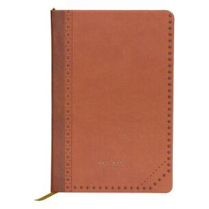 Ted Baker Kiku Brown Brogue A5 Notebook
