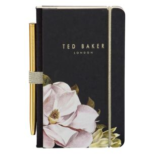 Ted Baker Black Opal Mini Notebook with Pen