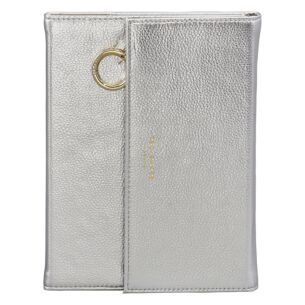 Silver A5 Notebook and Pencil Case