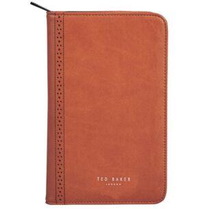 Tan Brogue Travel Documents Holder