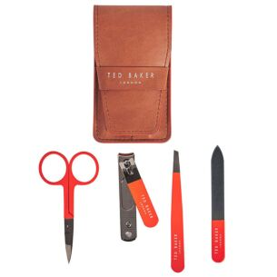 Tan Brogue Manicure Set