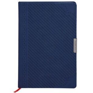 Navy Brogue Geo A5 Notebook