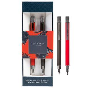 Grey & Orange Mechanical Pen & Pencil Set