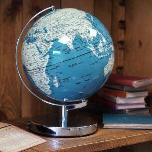 "French Blue Globe Light 10"""