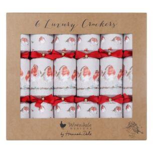Robin Set of 6 Luxury Christmas Crackers