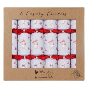 Christmas Scarves Set of 6 Luxury Christmas Crackers