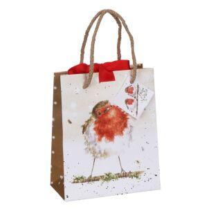 'Christmas Robin' Small Gift Bag