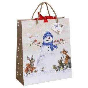 'Christmas Snowman' Large Gift Bag