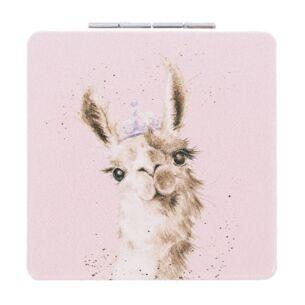Llama Queen Compact Mirror