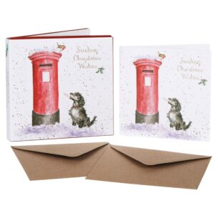'Christmas Wishes' Set of 8 Luxury Gold Foiled Christmas Cards