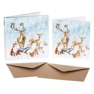 'Winter Wonderland' Set of 8 Luxury Gold Foiled Christmas Cards