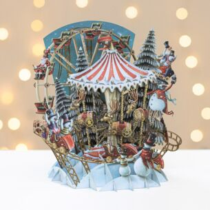 The Bringer of Snow's Carousel 3D Christmas Card