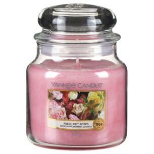 Fresh Cut Roses Medium Jar Candle