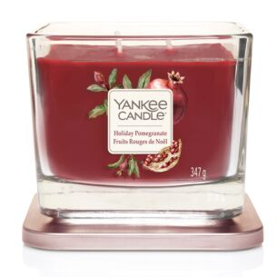 Holiday Pomegranate Medium Elevation Candle