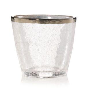 Kensington Metallic Band Glass Votive Holder