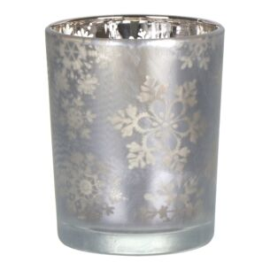 Snowflake Frost Small Tealight Holder