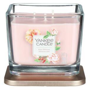 Rose Hibiscus Medium Elevation Candle