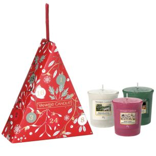 Countdown to Christmas Three Votive Candle Gift Set