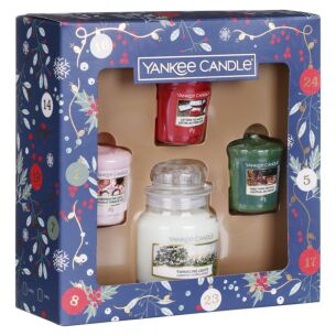 Countdown to Christmas Three Votive and Small Jar Candle Gift Set