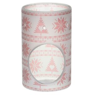 Yankee Candle Red Nordic Frosted Glass Melt Warmer
