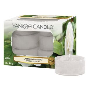 Camellia Blossom Pack Of 12 Tealights