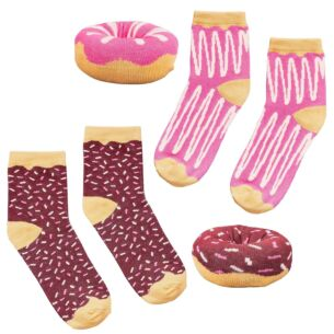 Yes Studio Organic Cotton Donut Socks – 1 Pair (Assorted designs)