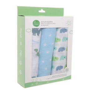Pastel Blue Muslins 3 Pack