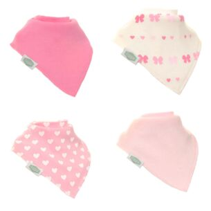 Hearts and Bows Unboxed Bibs - 4 Pack