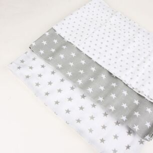 Grey & White Muslins 3 Pack