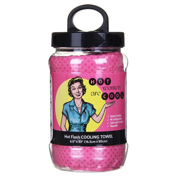 Pink Hot Flash Cooling Towel