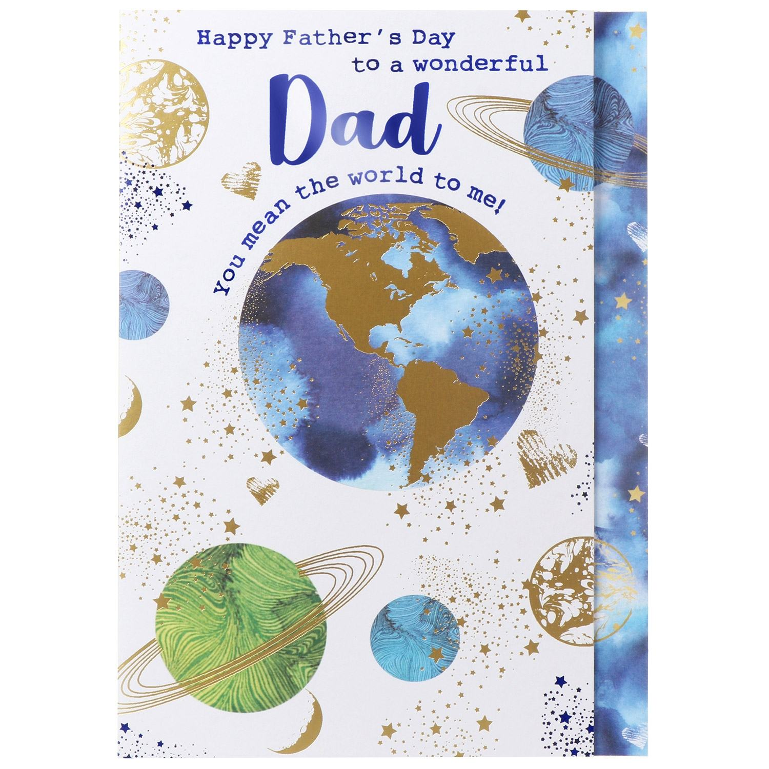 Large 'The World To Me' Father's Day Card
