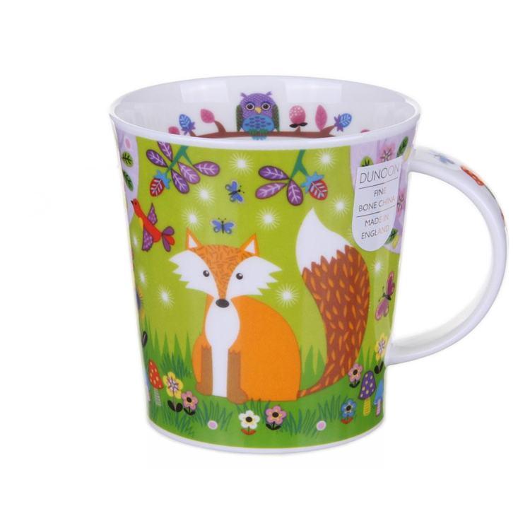 Dunoon Enchanted Wood Fox Lomond Shape Mug
