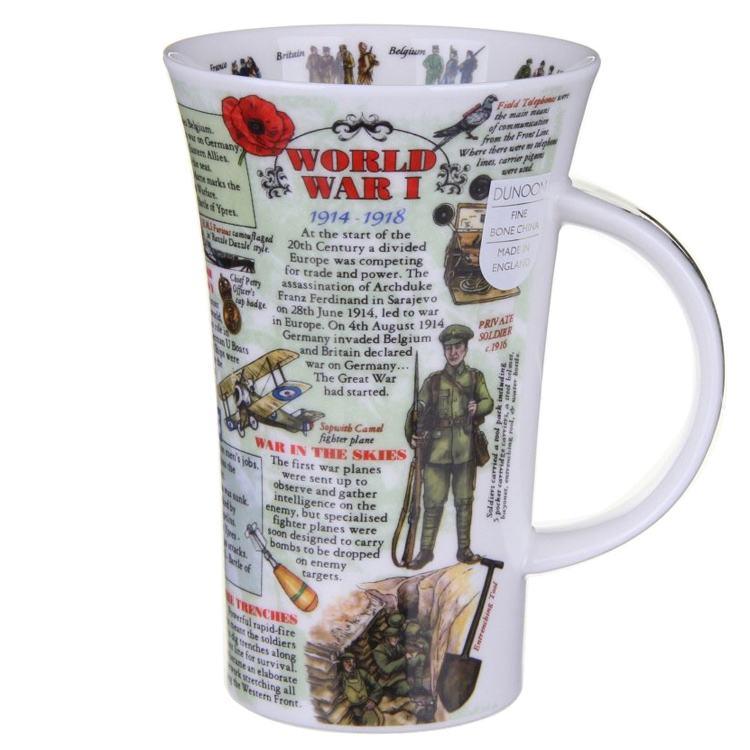 Dunoon World War 1 Glencoe shape Mug