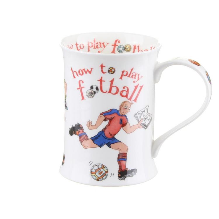 Dunoon How to Play Football Cotswold shape Mug
