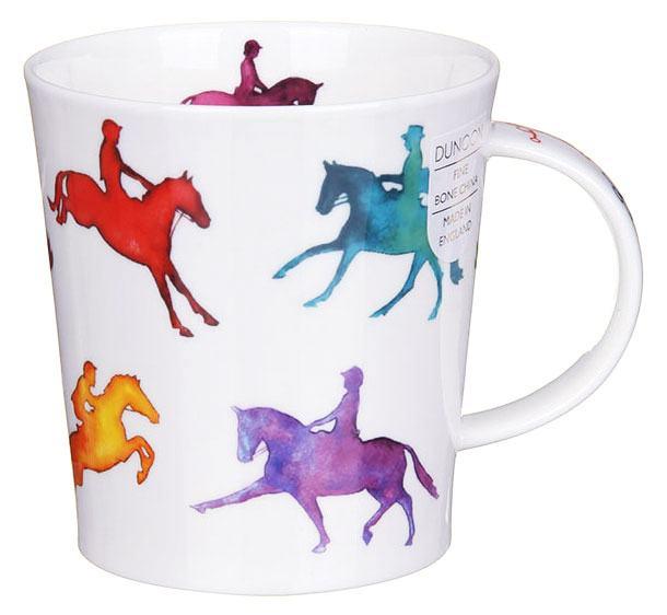 Dunoon Equestrian Mixed Lomond Shape Mug