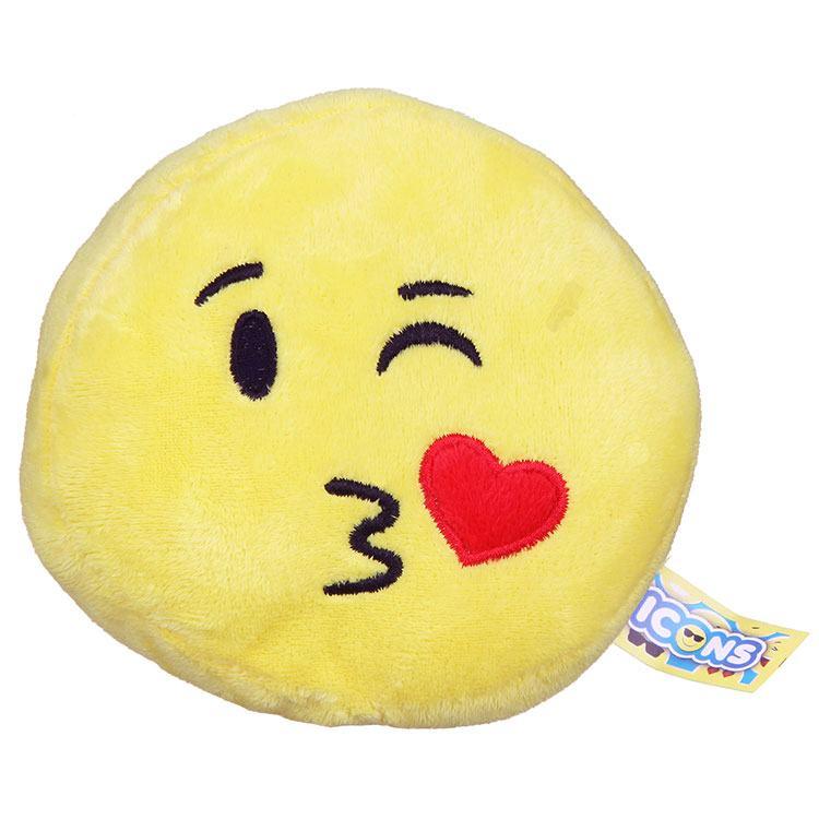 Blowing Kiss Emoji Icon Small Plush
