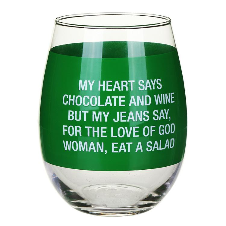 About Face Designs 'My Heart Says Chocolate' Glass