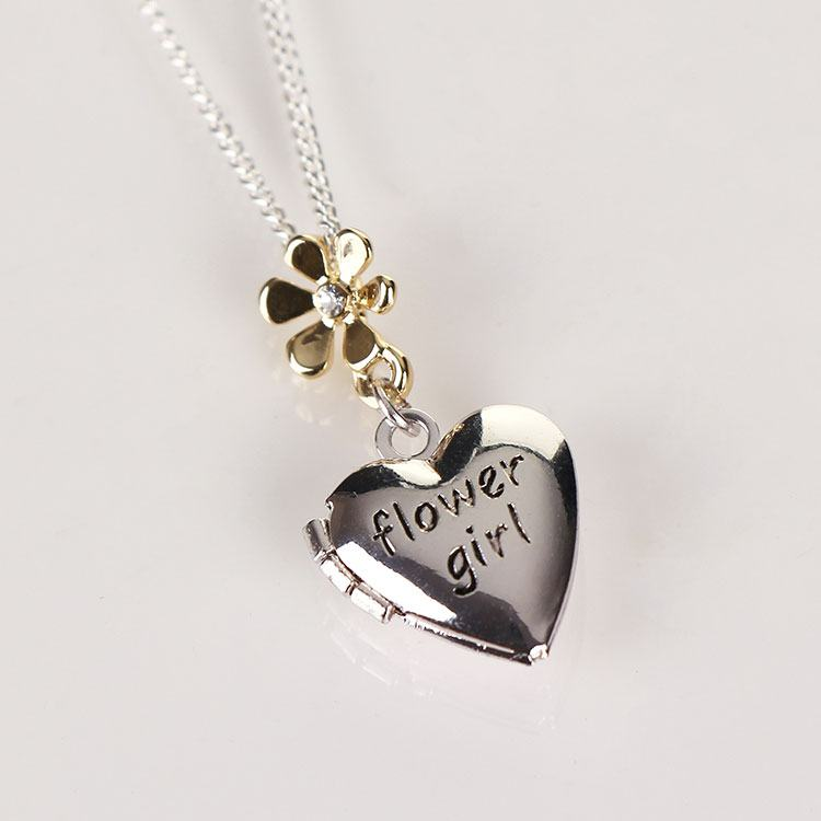 Equilibrium Silver & Gold Flower Girl Necklace