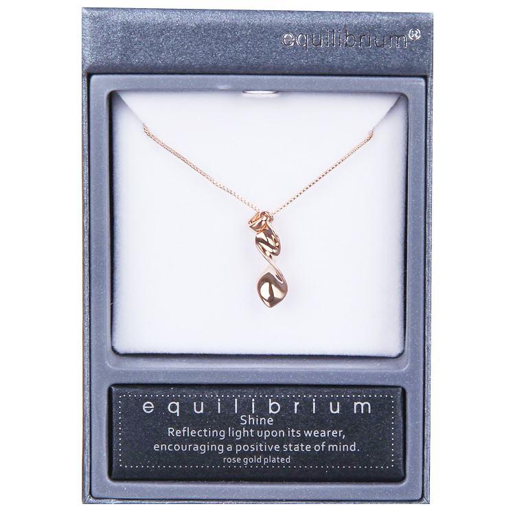equilibrium rose gold elegant twist necklace